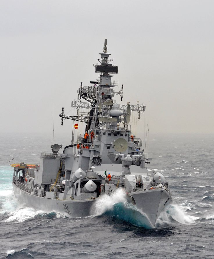 INS Ranvir, a Rajput class Destroyer of the Indian Navy.