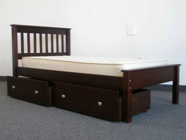 twin bed cappuccino with drawers delivered for only 325 from