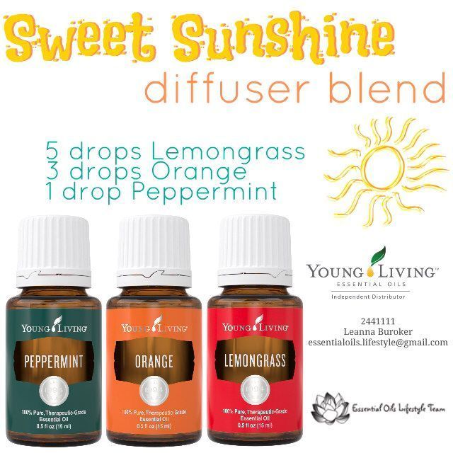 Bring a little sunshine inside.  Young Living Essential Oils diffuser blend from Independent Distributor 2441111