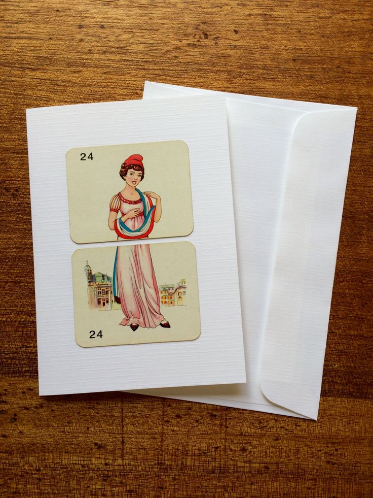 Retro greeting card for a female, Vintage greeting card for ladies, Handmade greeting card for a female, Blank greeting card by RetroMementos on Etsy