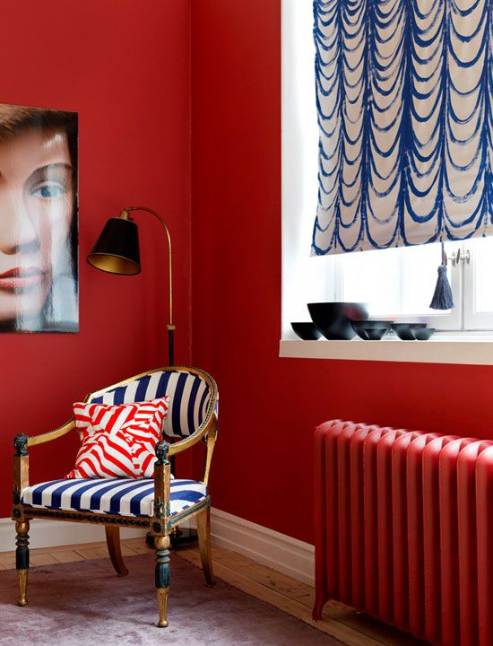 Wow, we love this ruby-red radiator!