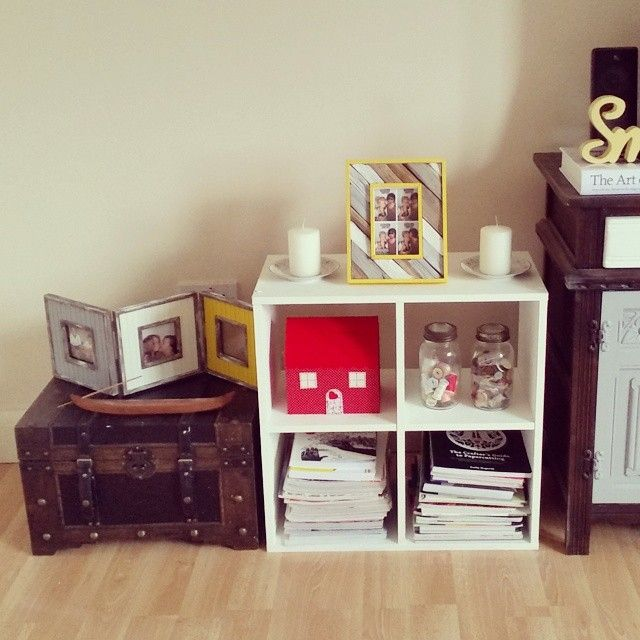 Upcycling- Plain wooden picture frames and a flat packed unit from Argos jazzed up with a splash of paint! <3 https://www.facebook.com/CharlottePettleyDesign