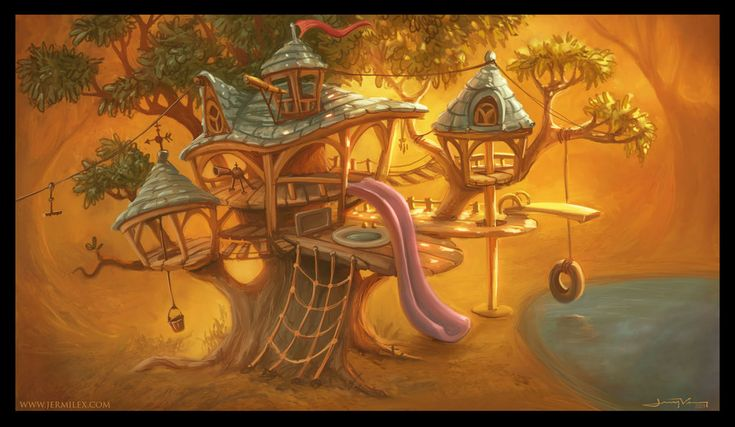 Elevate TreeHouse by *jermilex on deviantART The slide looklike a tongue :-))