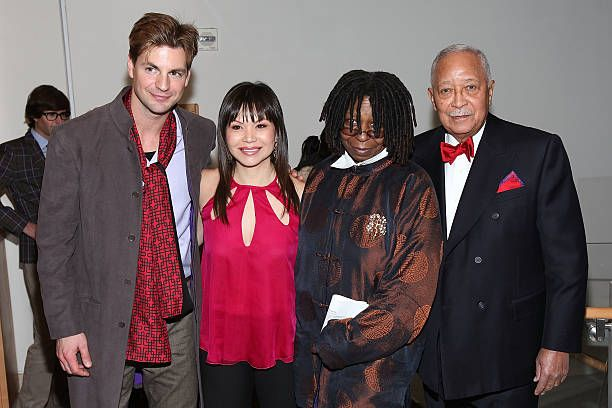 Actors Gale Harold Fay Ann Lee Whoopi Goldberg and former New York City Mayor David Dinkins attend the premiere of 'Falling For Grace' at the Asia...