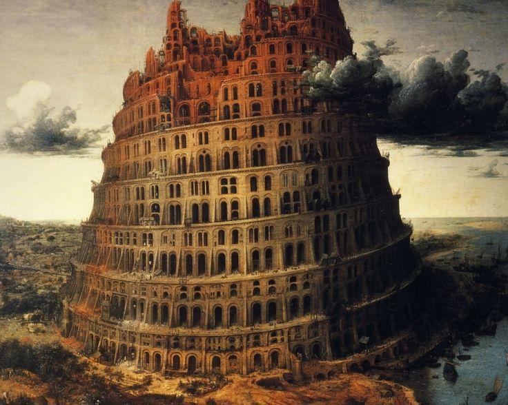 "The ""Little"" Tower of Babel, 1563 - Pieter Bruegel the Elder (Museum Boijmans van Beuningen, Rotterdam)"