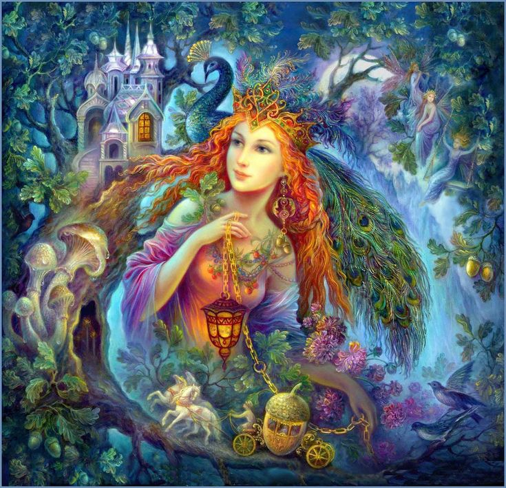 By Nadezhda Strelkina, who paints Fedoskino Russian Lacquer boxes - Faery