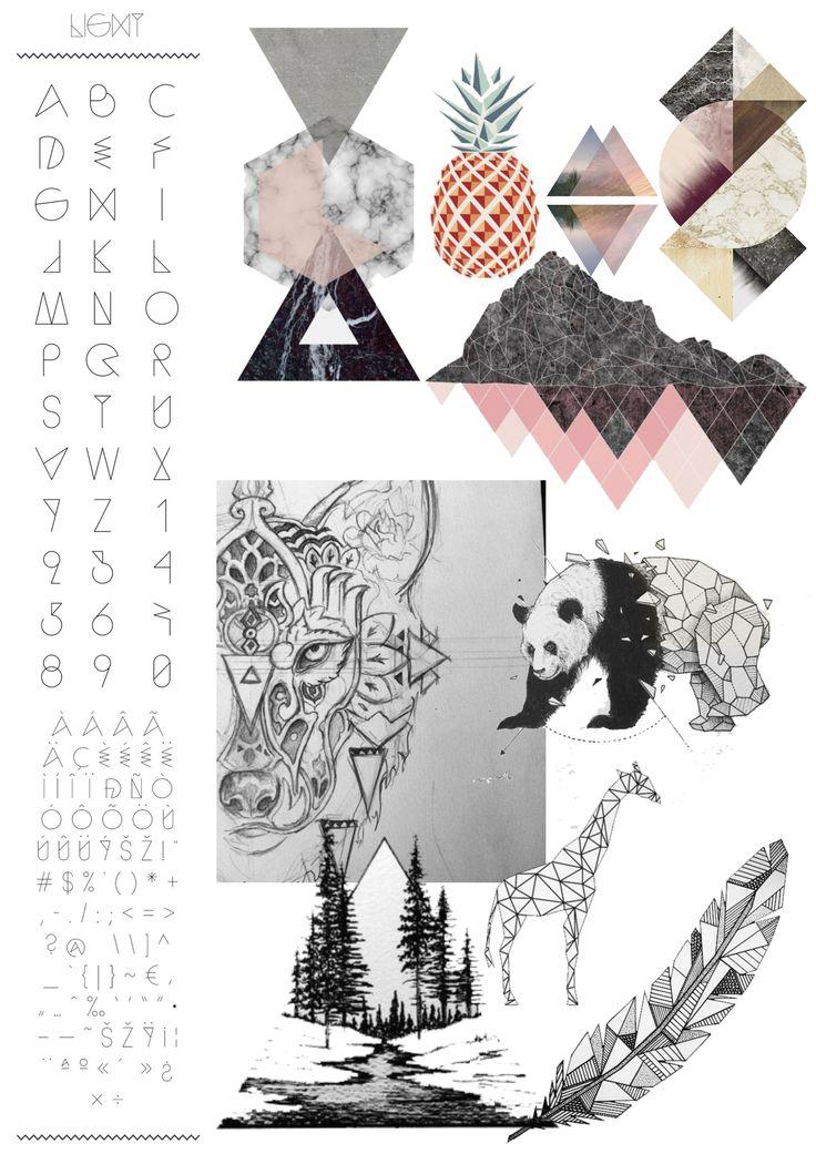 GEOMETRICS: Een stijl met veel verschillende kanten. Alle kleuren en vormen kunnen en mogen gebruikt worden. Het doel is alleen dat alles bestaat uit geometrische vormen, zoals driehoeken. Dit is een uitdaging. Het mooie aan deze stijl vind ik dat je ook veel met fotografie en dergelijke kan werken. Je kan dus zo zot gaan als je zelf wilt. Maar tegelijkertijd heel subtiel blijven. Ook zijn hier verschillende soorten lettertypes zelf bij te maken.