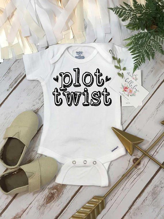 Reveal Romper Plot Twist Pregnancy Announcement Baby Bodysuit We/'re Pregnant