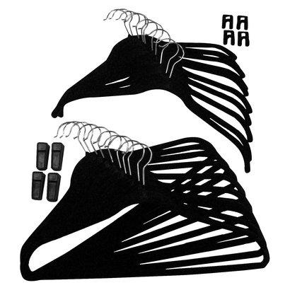Joy Mangano 34-pc. Huggable Hangers® Combo Pack - Black     Black Felt Hangers!