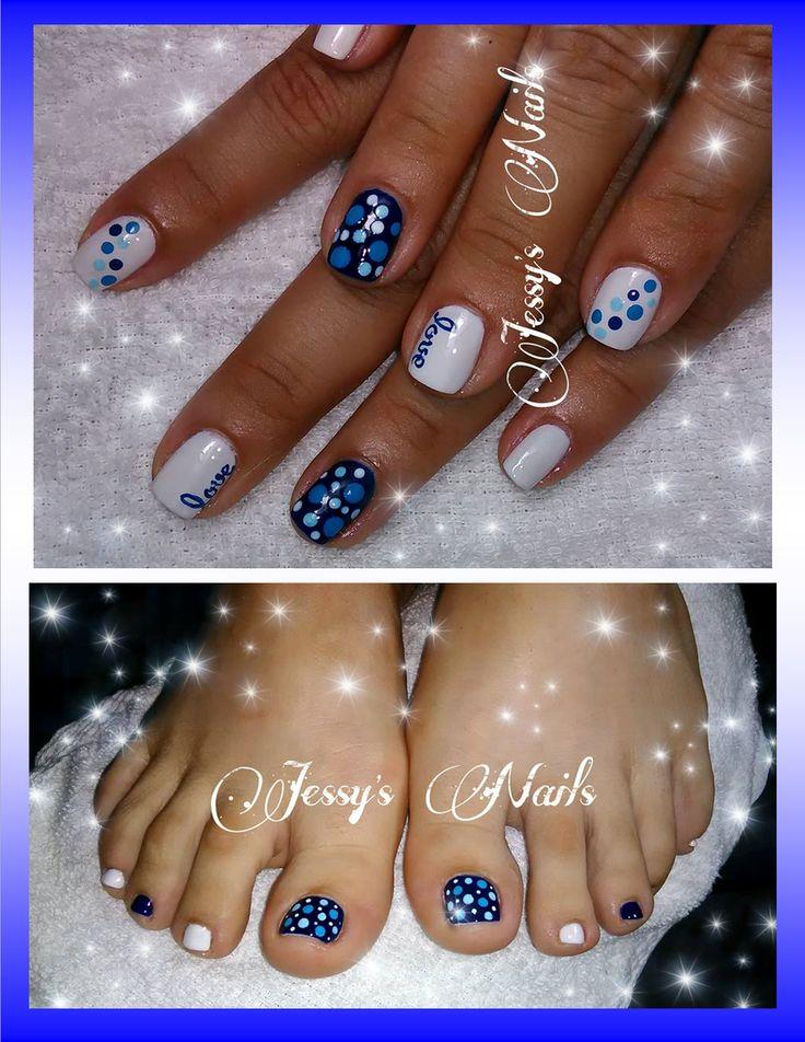 uñas con puntos y love #nails #love
