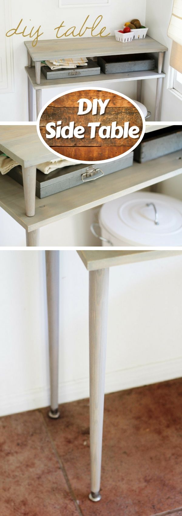 Check out how to build a DIY side table @istandarddesign Tutorial: acutedesigns.blogspot.com This side table is simple but good looking with a hint of shabby chic style. And the best part about it is that you can easily do it yourself at home. If you think you may use this table, follow the tutorial for the DIY project. This article is sponsored by: If you liked this post, check out what other cool articles we have: Industry Standard Design Editorial story by Industry Stand...