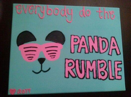 Panda Rumble Canvas! #AOII #alphaomicronpi #aoiicanvas #canvas #panda #pandarumble #DIY
