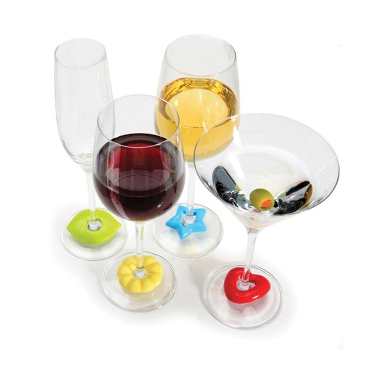 Personal Edge : Set of silicone wine charms