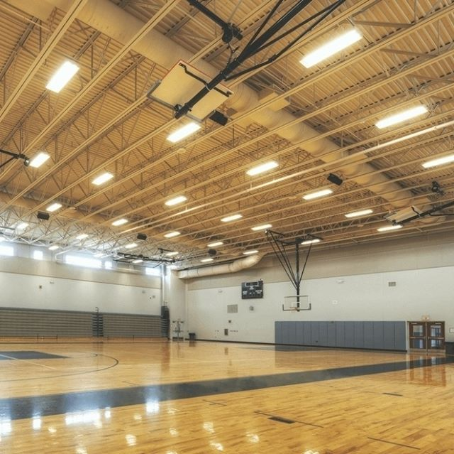 As sports facilities are often very large and have high ceilings, they need a set of luminaires that are designed for high spaces and are bright enough to illuminate every nook and cranny.  #StandardProducts #Montreal #Quebec #Ontario #Toronto #Ottawa #Ca