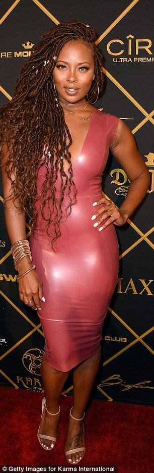 Watch out the Kardashians: Actress Eva Marcille rocked a latex House Of CB dress which Khl...