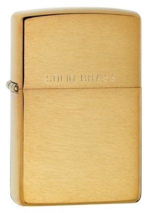New Zippo 204 Brushed Brass With Logo Lighter Great American Made Product Excellent Performance by Zippo. $23.93. Zippo cigarette lighters are made in the USA.. Solid Brass Zippo lighter.  Uses genuine Zippo lighter fluid.