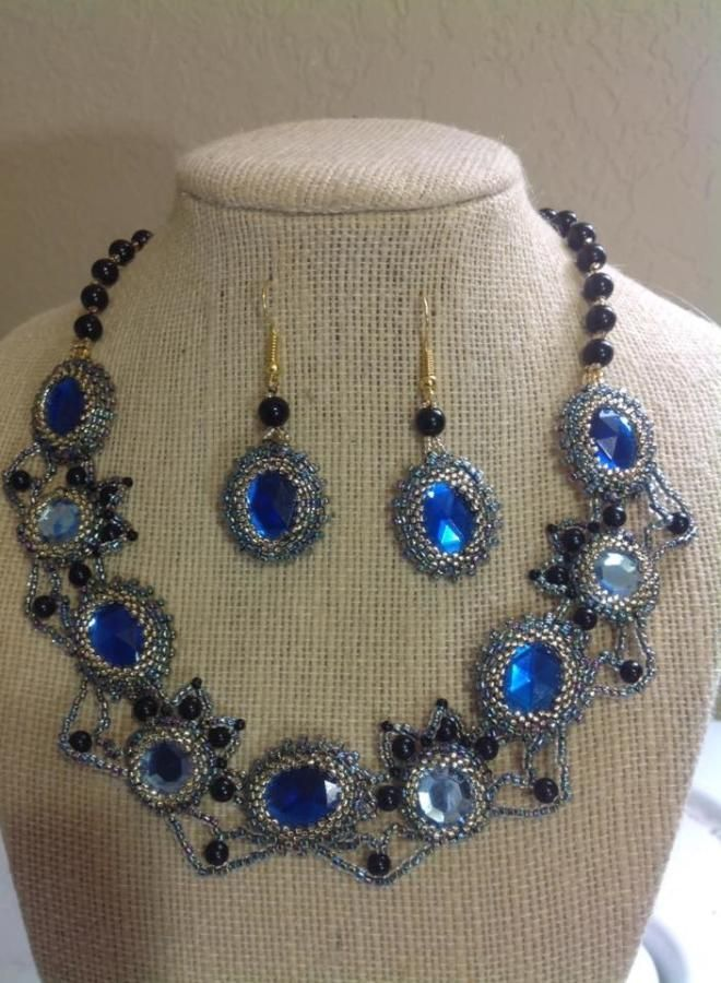 Blue and Black - Jewelry creation by Lizy N. B.