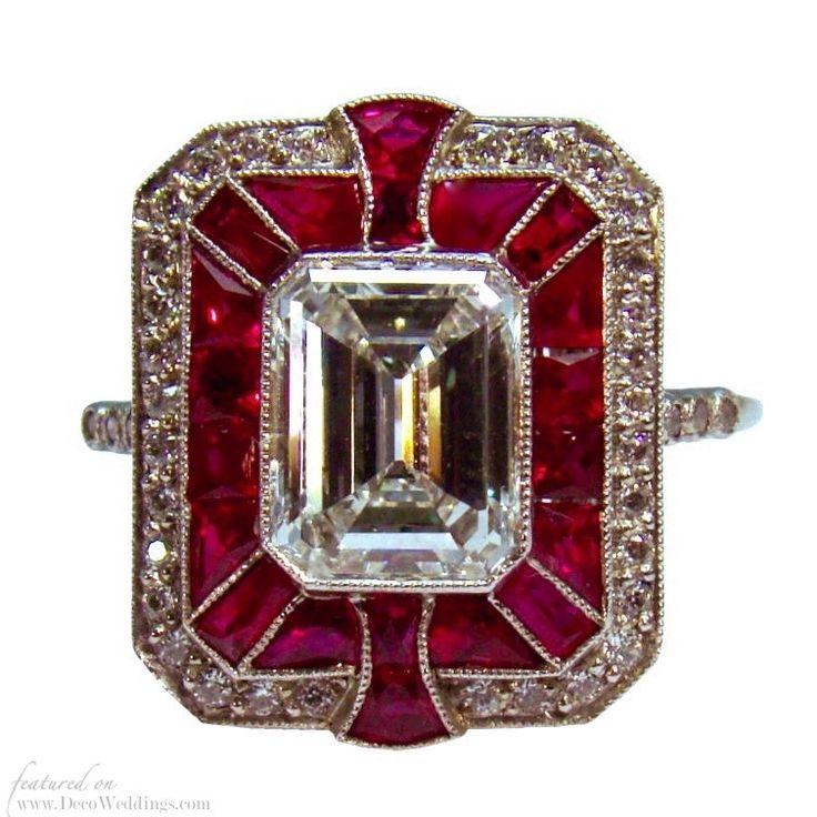 Ruby Art Deco Ring