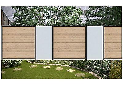 Komplett Set f. 7,40 Meter Steckzaun Sichtschutz Zaun WPC sand/Glas