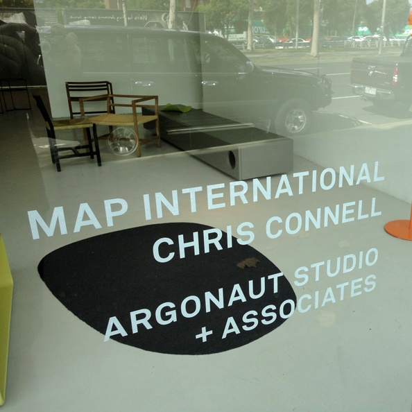 forme cut white trading window decal for retail space. #mapinternational #argonaut #window decal #retail signage
