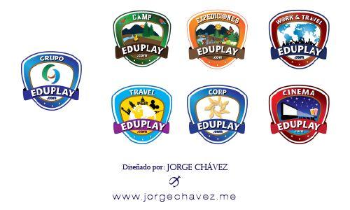 Logotipos para marca y submarcas para empresa de turismo educativo.