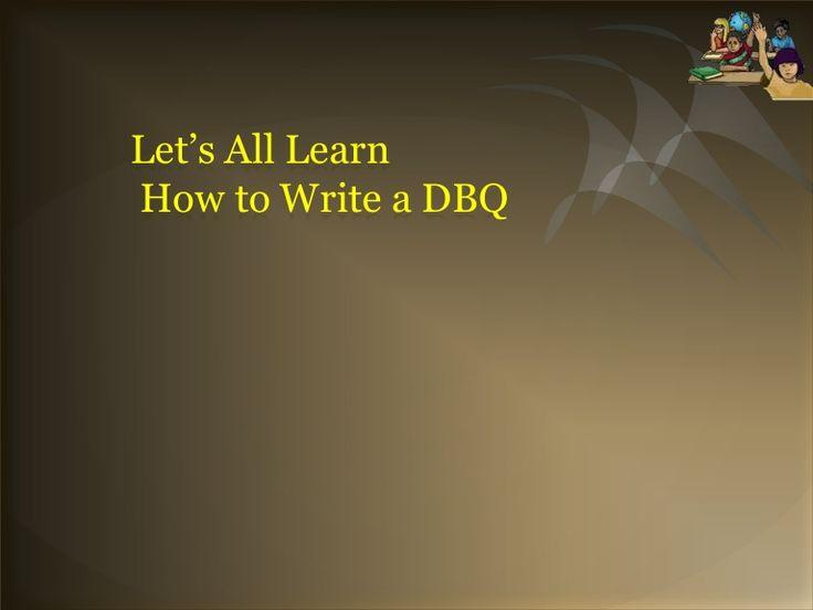 write a dbq thesis