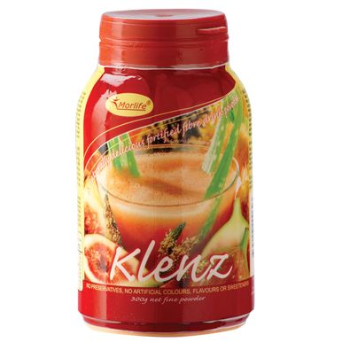 Klenz is a blend of fibre-rich food powders and essential nutrients. A delicious mango tasting drink powder that includes a blend of both soluble and insoluble fibres.