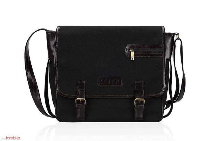 Męska torba na laptop z włoskiej skóry i materiału #jakatorebka #torba #męska #torbanalaptop