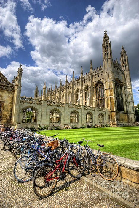 King's College, Cambridge. The bicycle has for many many years, been a mode of transport favoured by students, both here & in Oxford.