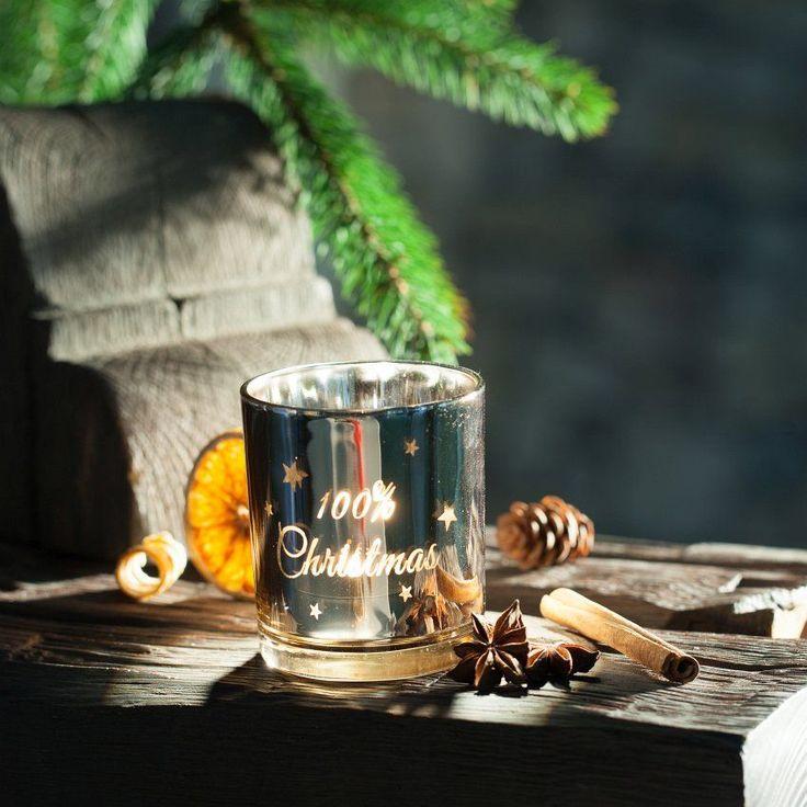 Świecznik 100% Christmas 7x8cm 7x8cm #zima #winter #interior #dom #home #wnetrze #dekoracje #decoration