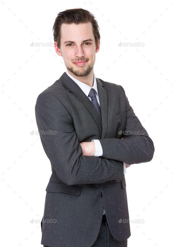 Businessman arm folded