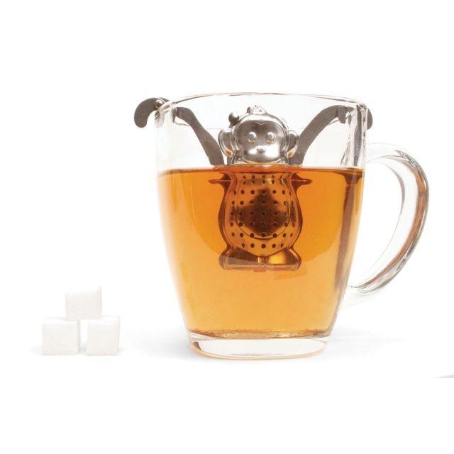 Praktyczny zaparzacz małpka umili ci proces zaparzania herbaty.