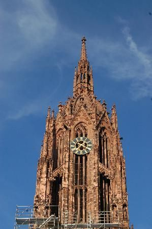 Cathedral of St. Bartholomew. For 2 euros, we can go to the top and get a gorgeous view of Frankfurt.