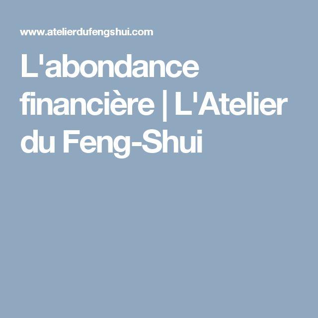 L'abondance financière | L'Atelier du Feng-Shui