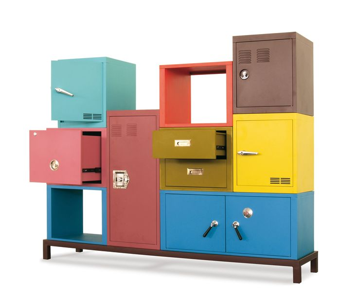 Stack Metal Cabinet H In Multiple Colors Design By Seletti
