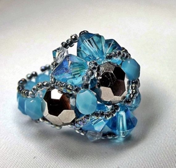 FREE SHIPPING Turquoise blue ring  turquoise and by Mamyblue, $30.00