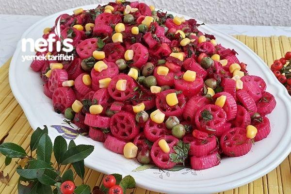 Nefis Pancarlı Makarna Salatası (Çok Lezzetli)