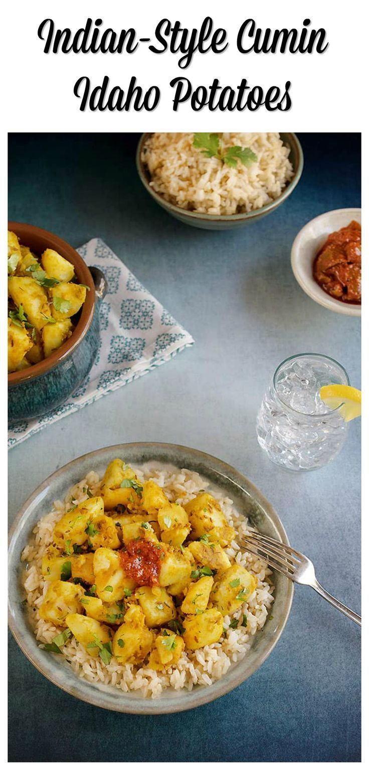 Indian-Style Cumin Idaho®️️️️ Potatoes (Vegan Aloo Jeera) is perfect on its own, but even better with a dal or black-eyed pea curry.
