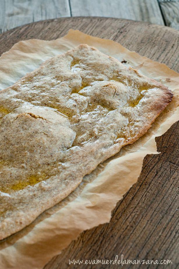 Receta: Coca, Pizza o Crackers de Trigo Sarraceno Fermentado, sin gluten