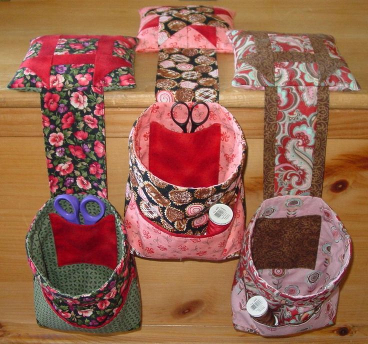 pattern for sewing machine thread bag | Sewing: Thread Catcher With Pockets & Pincushion