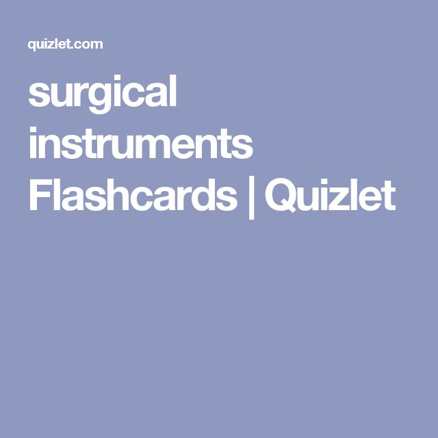 surgical instruments Flashcards | Quizlet