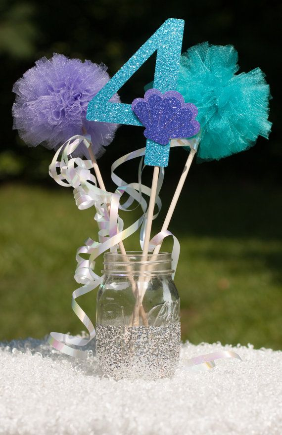 Mermaid Pool Party Under the Sea Centerpiece Table Decoration