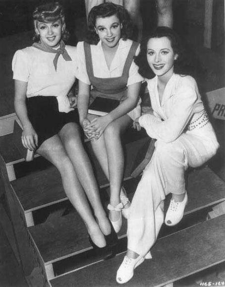Ziegfeld Girl 1941.  Lana Turner, Judy Garland and Hedy Lamarr.
