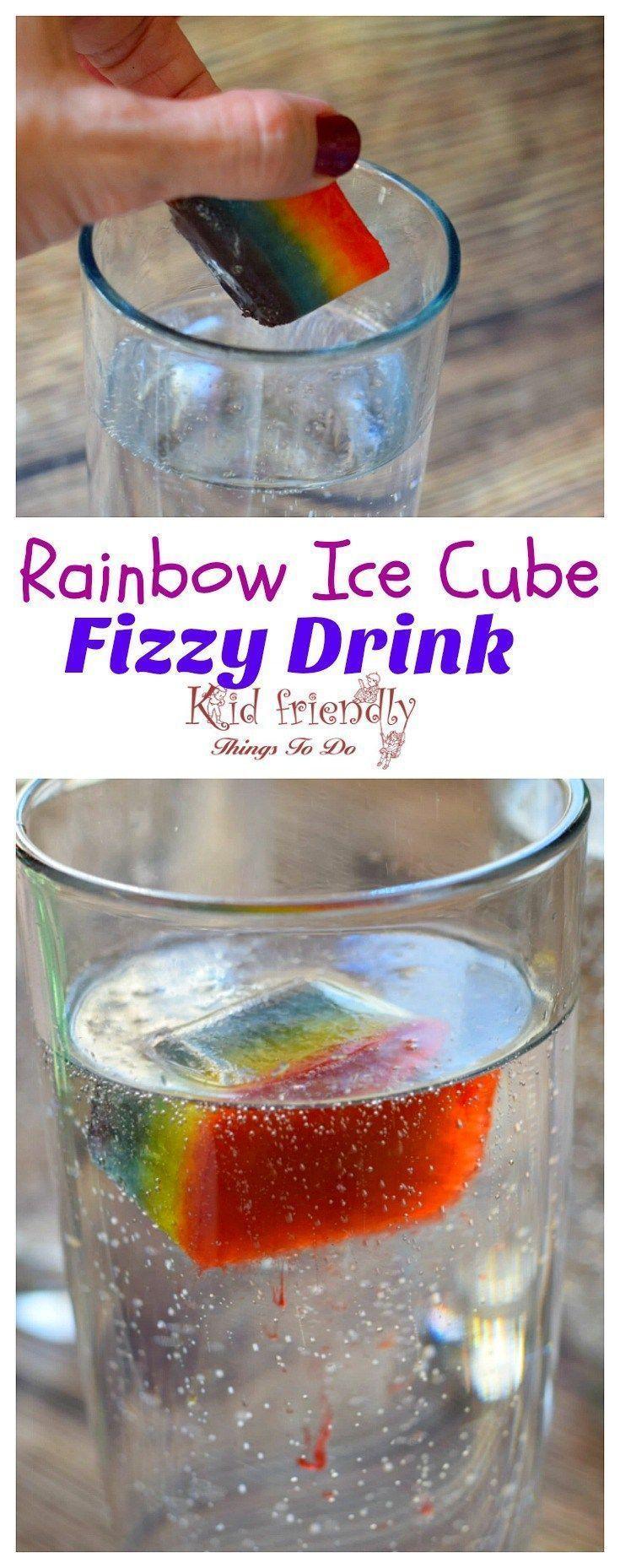 Rainbow Fizzy Drinks a fun idea for St. Patrick's Day or just summer fun treats for kids! http://www.kidfriendlythingstodo.com