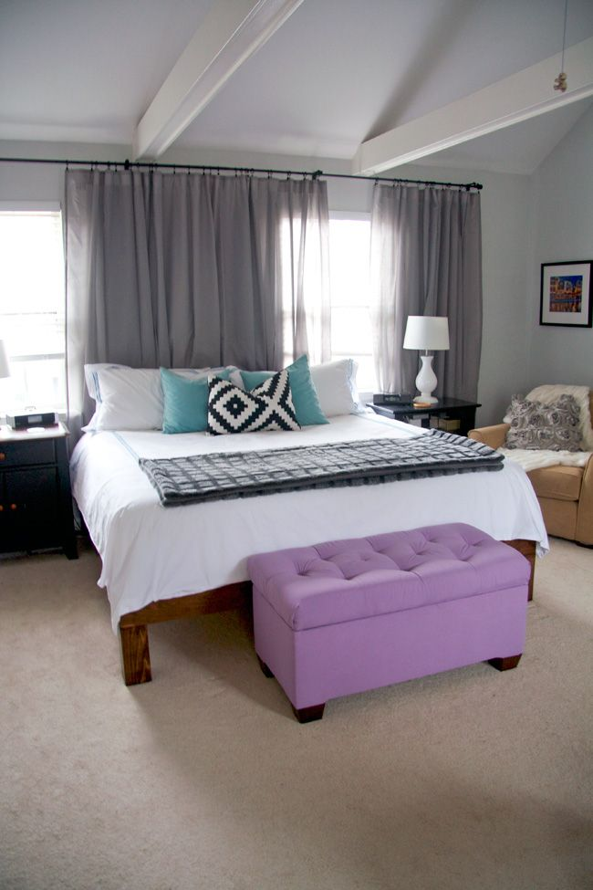 Glitter and Goat Cheese - King-sized hand-built wood platform bed