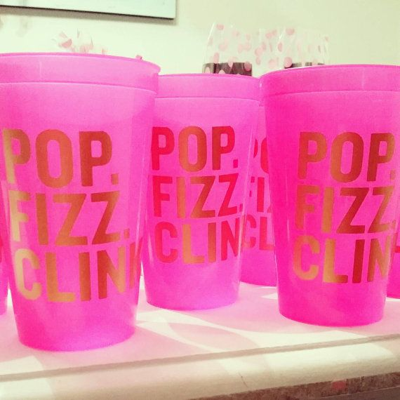 $4 POP FIZZ CLINK stadium cups by ChasingLilly on Etsy