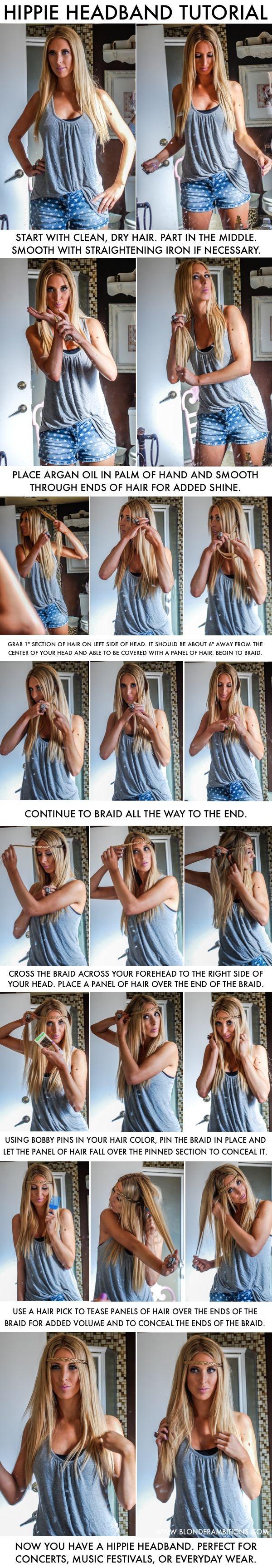 Coachella Hair. California Hair. How To Do Your Hair in the Summer. Summer Hair. #blonderambitions