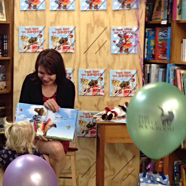 A young fan takes a closer look at TOO HOT FOR SPOTS, read by creator Mini Goss   July 2014