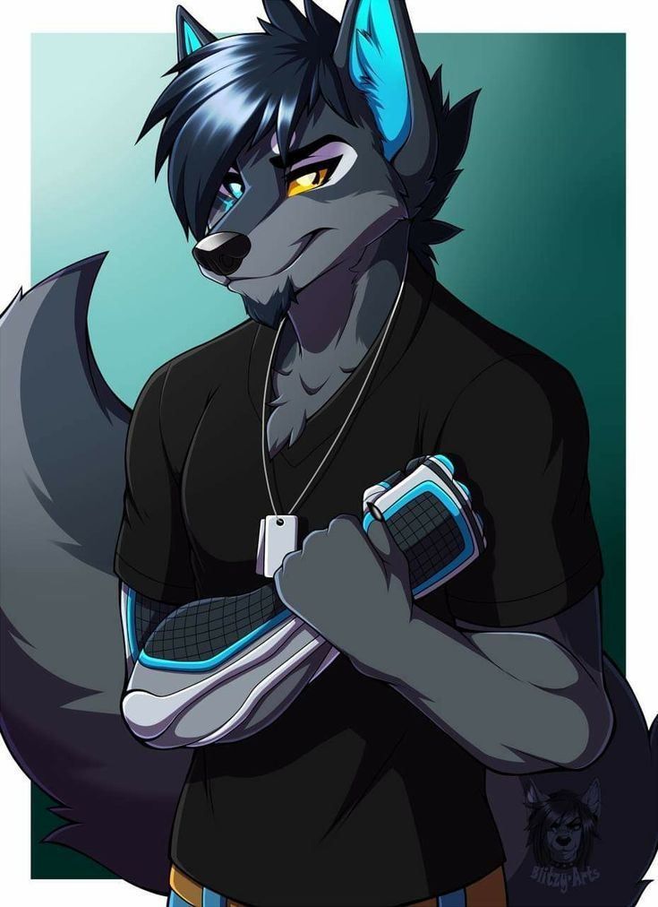 Fee Ironwolftempest By Blitzy Arts Anime Wolf Anthro Furry Furry Oc Anime Furry