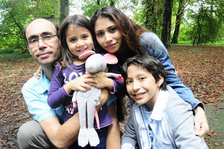 Broer Tim met vrouw Lauddi en kinderen Yara en Miguel